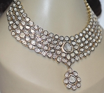 Antique Necklace 25.00 Ct Natural Certified Diamond 925 Sterling Silver Wedding